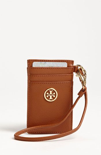 fb7c02a6397 Tory Burch  Robinson  Card Wristlet   ID holder.. need it
