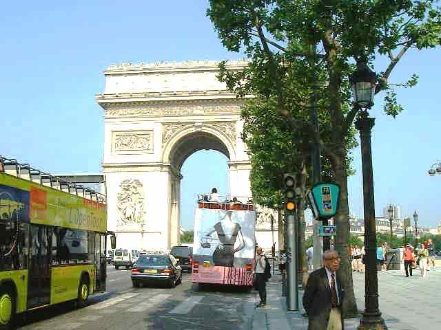 OMGosh! Some Place other than the Eiffel tower does exists in France. Arc-De-Triomphe.