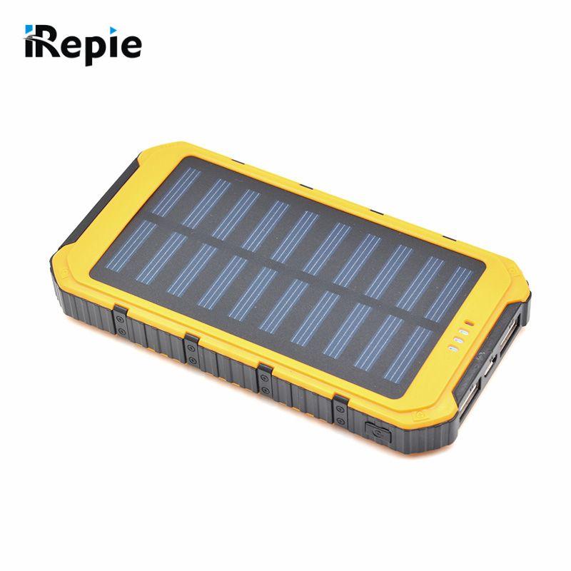 Portable 12000mah Solar Power Bank Shockproof External Battery Universal Outdoor Powerbank For Cellphone Pric Solar Power Bank Solar Battery Bank Solar Power