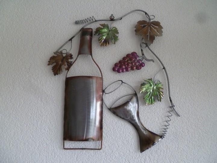 3d Wanddecoratie Wijnrank Wijnfles En Glas Diversen In 2021 Macrame Plantenhanger Glas Wijnfles