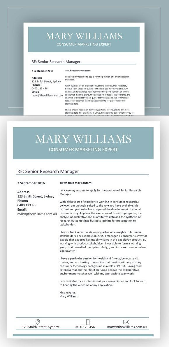 Clean and simple cover letter Resume, Resume templates and Cleanses - simple cover letters