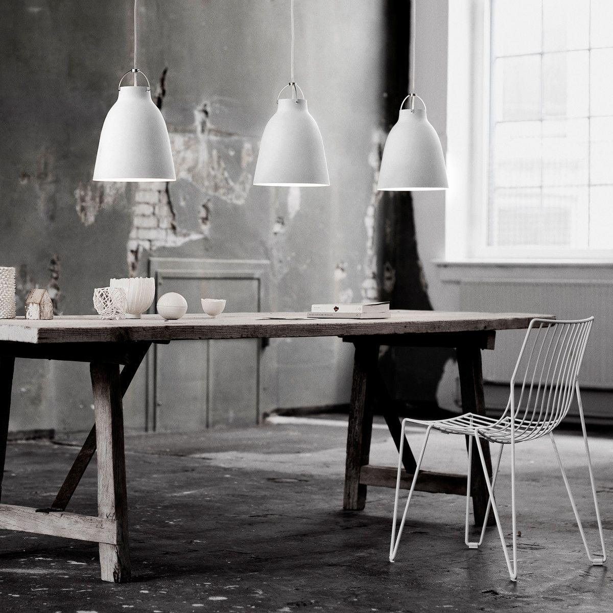 Lampe Esszimmer Pendelleuchten Wohnzimmer Beautiful: Caravaggio P2 Pendelleuchte Glänzend, Weiß