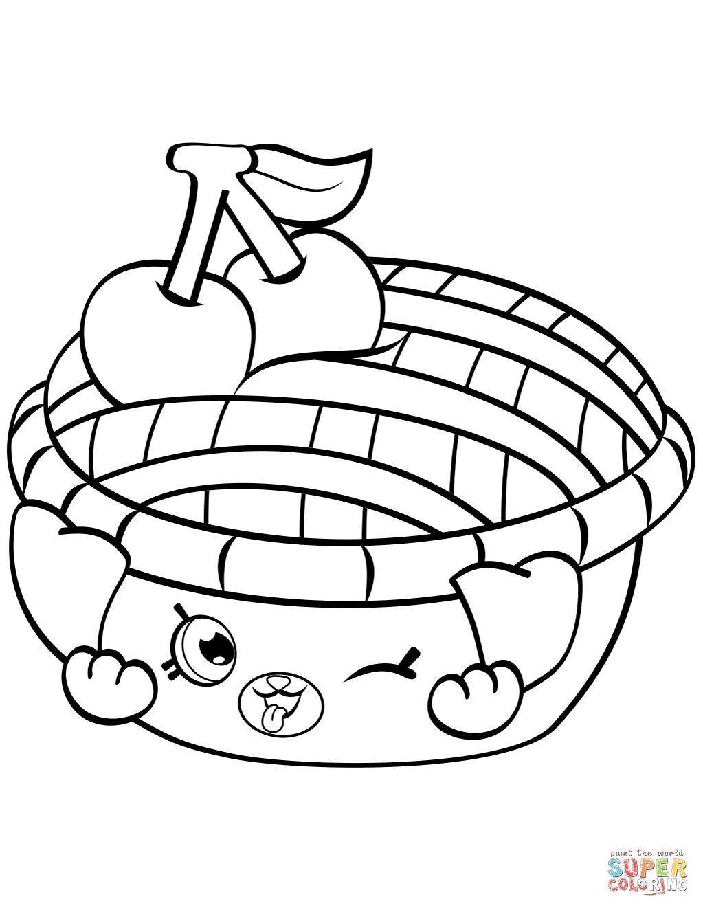Shy Pie Shopkin coloring page   Free Printable Coloring Pages ...