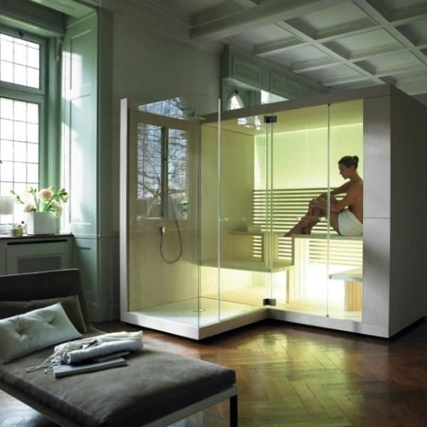 Sauna. This Would Be Awesome To Have In The Basement And