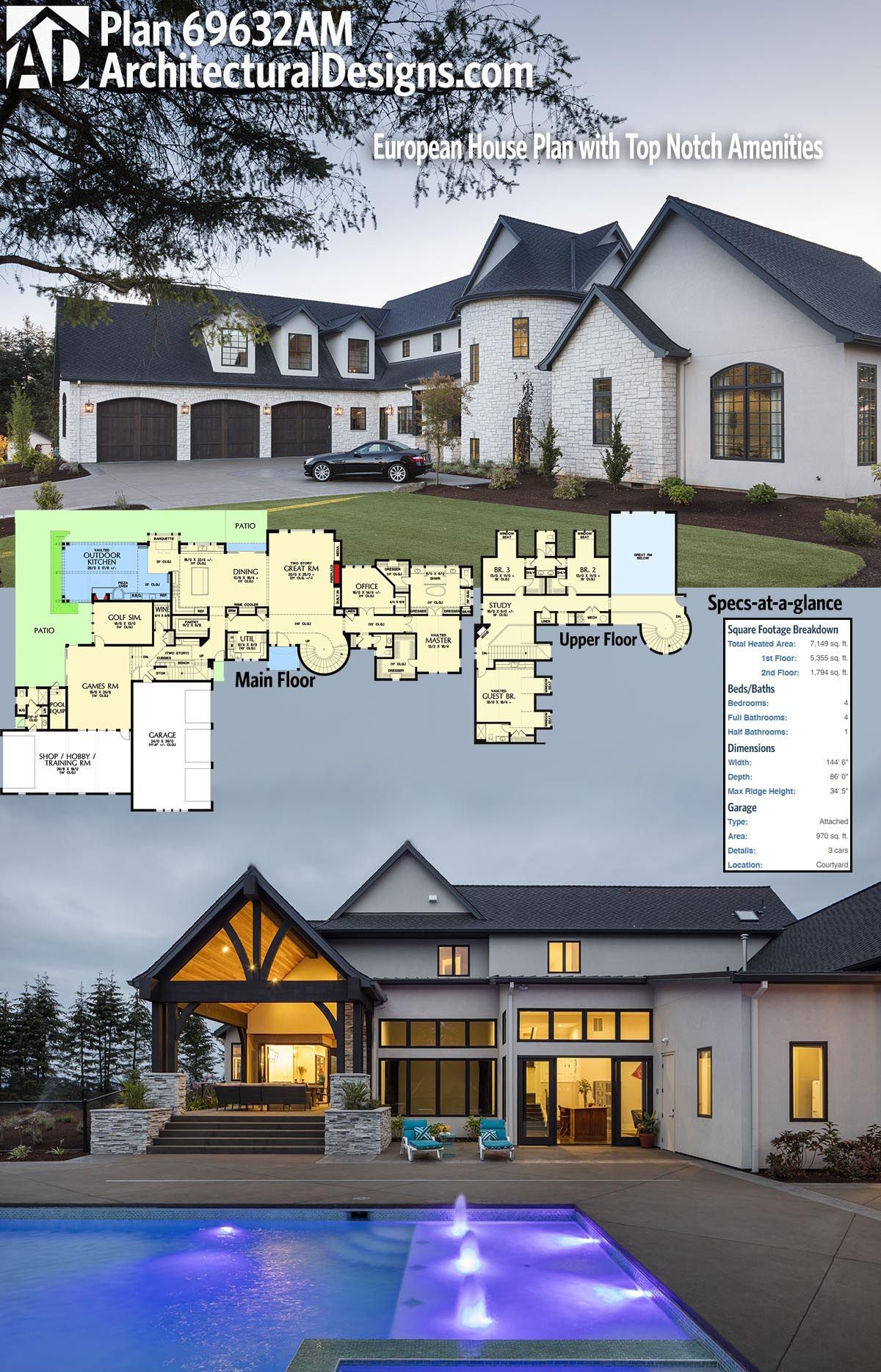 Architectural designs luxury house plan am has huge outdoor