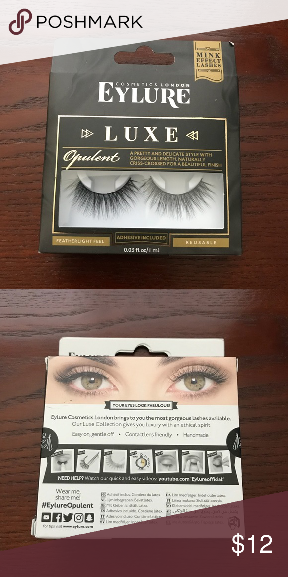 caac5406927 Eylure Luxe Mink Effect False Lashes Style Opulent Brand new Eylure luxe  mink effect false eyelashes in the style Opulent. A pretty and delicate  style with ...