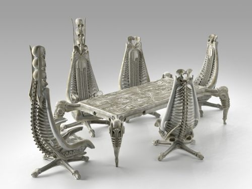 Harkonnen Table And Chairs By H.R.Giger Part 96