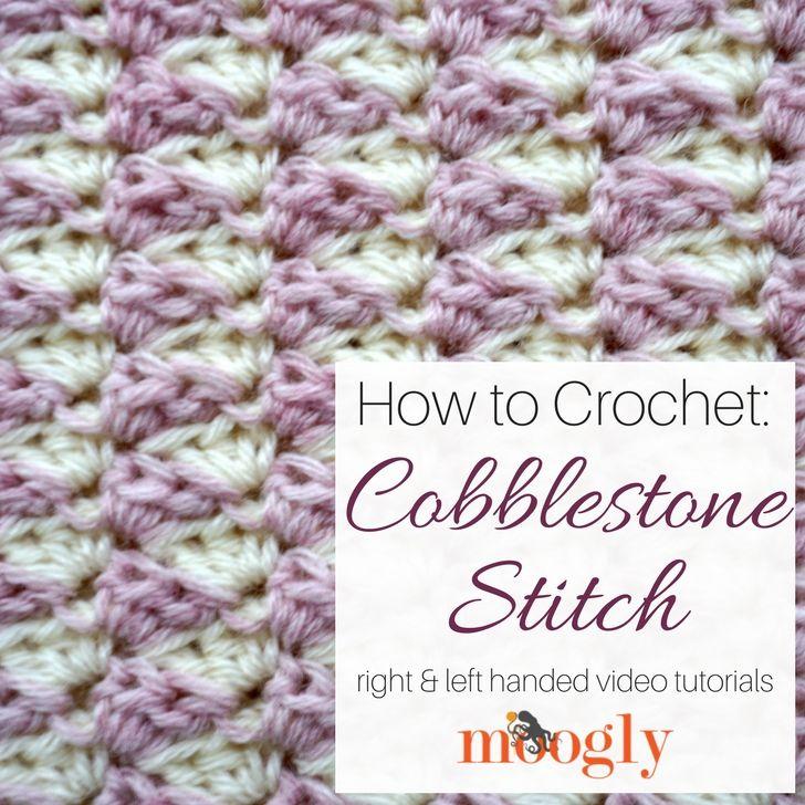 Cobblestone Stitch - Free #Crochet Video Tutorial on | Uso del punto ...