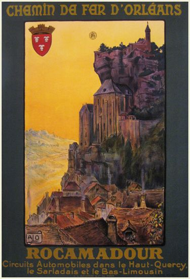 Rocamadour  by Charles Alo (or Halo, Hallo) c.1920
