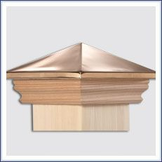 Post Cap Options For Your Fence From Elyria Fence A Cleveland Fence Company Since 1932 In 2020 Post Cap Copper Tops Cedar Posts
