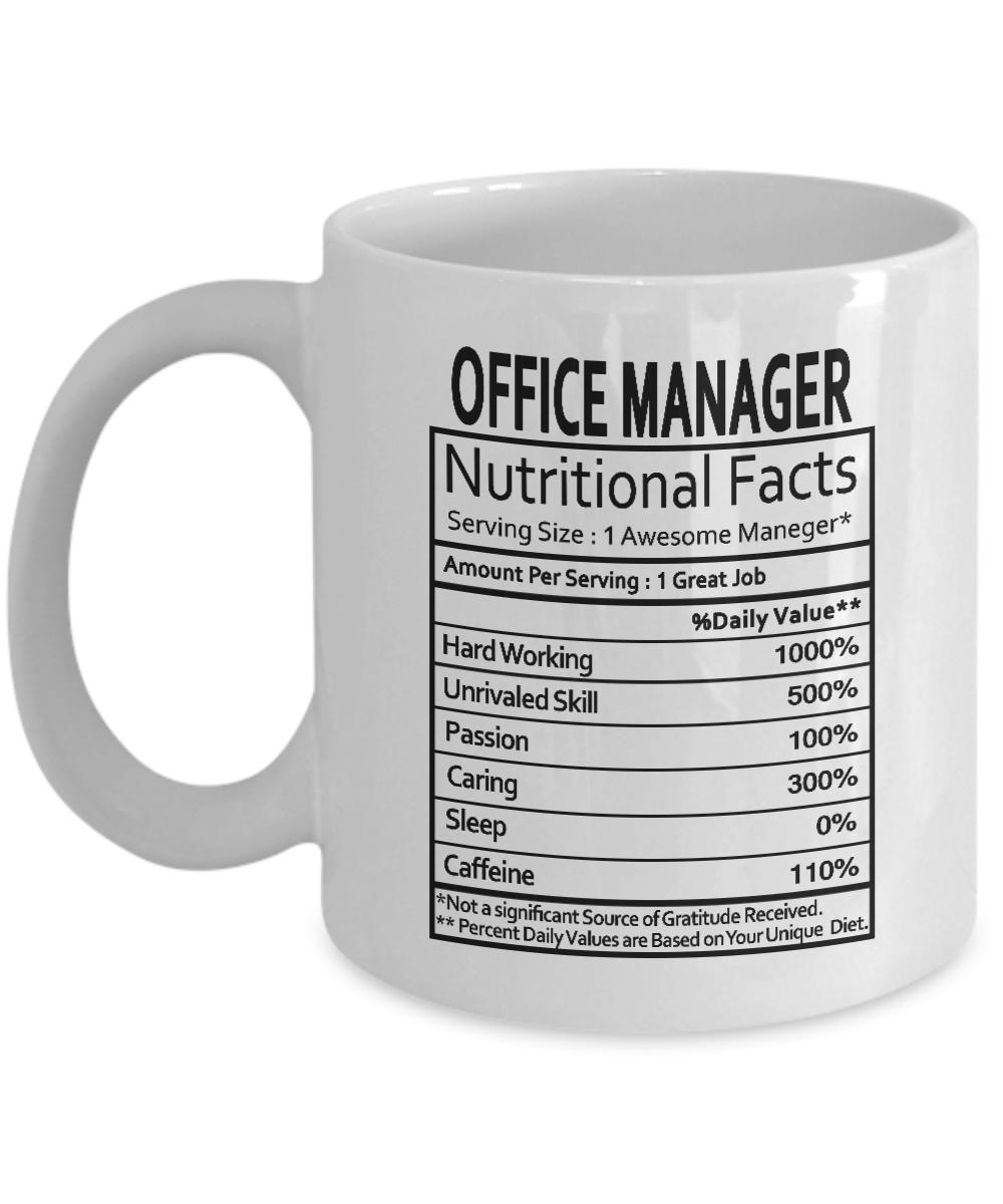 Office Manager Gifts Office Manager Manager Nutritional