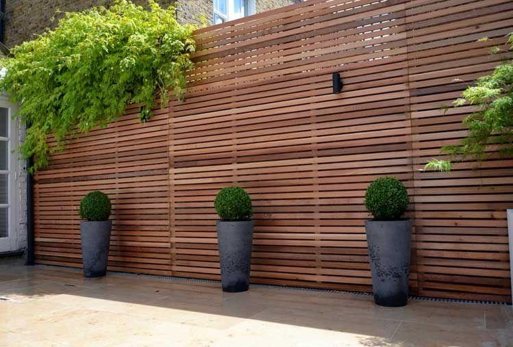 sichtschutz holz garten mit erstaunliche horizontale zäune, Terrassen ideen
