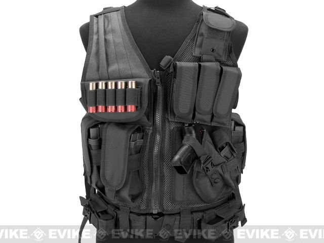 Matrix Special Force Cross Draw Tactical Vest w/ Built In Holster