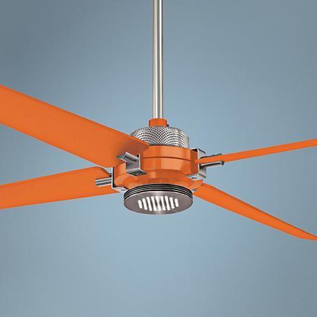 60 Minka Aire Spectre Orange Nickel Led Ceiling Fan 8y269 Lamps Plus Led Ceiling Fan Ceiling Fan Energy Efficient Ceiling Fans