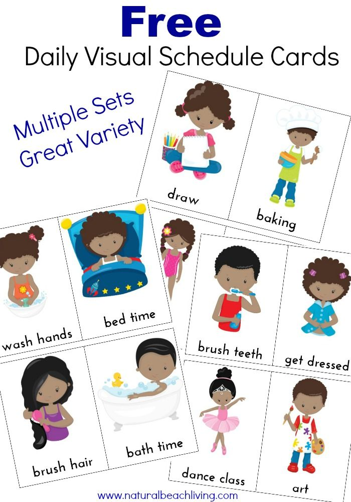 Adorable image for printable visual schedule