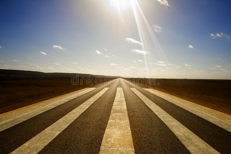 Long Straight Road And Runway Markings Wide Angle Shot Of Long Straight Road Wi Affiliate Angle Wide Shot Straight Long Road Stock Images Image