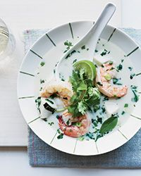 Thai Coconut Seafood Soup Recipe on Food & Wine~ a keeper! Fast and the hubby loved it with chicken. Bam.