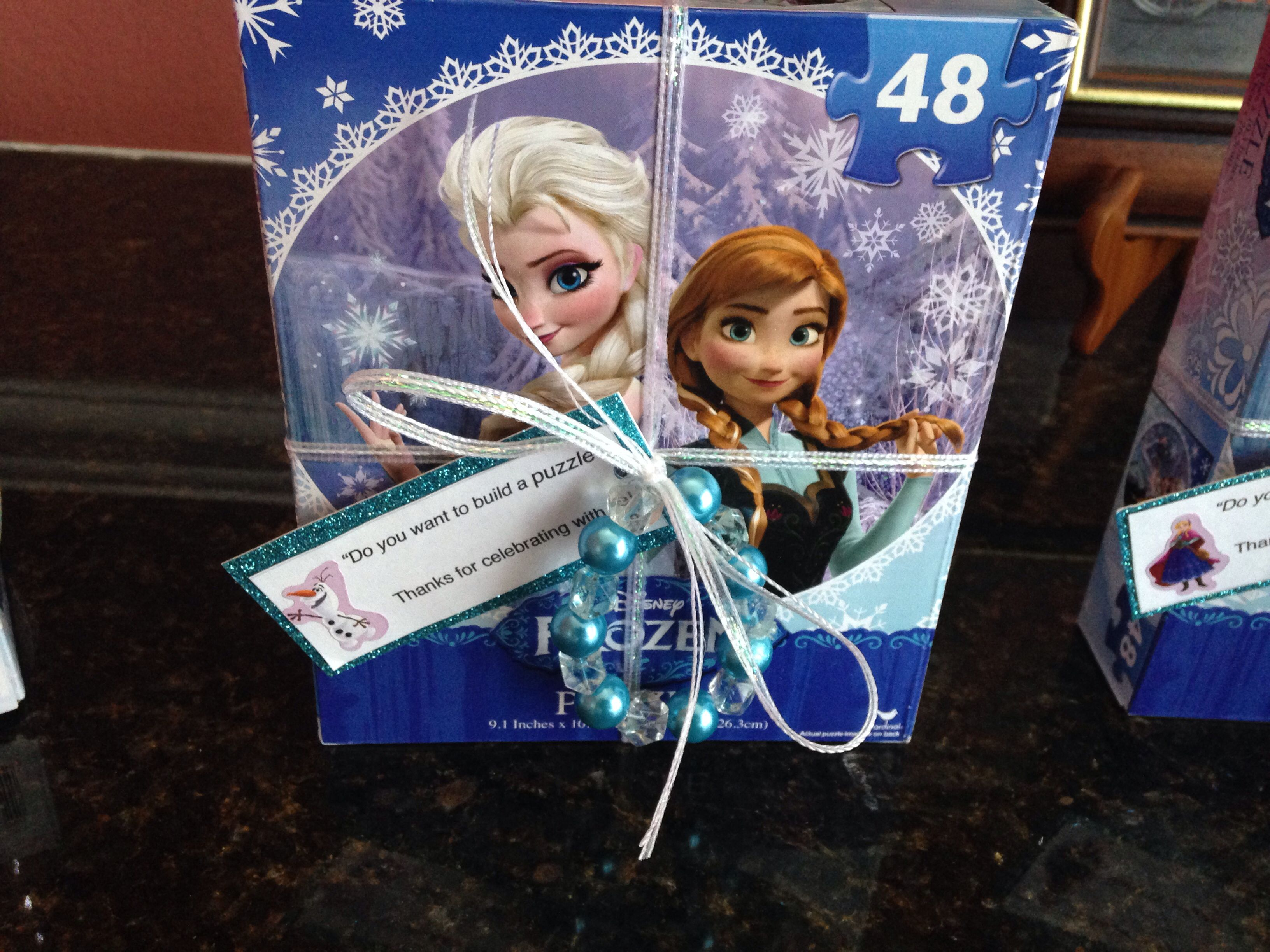 Disney Frozen Birthday Party Favor Do You Want To Build A Puzzle