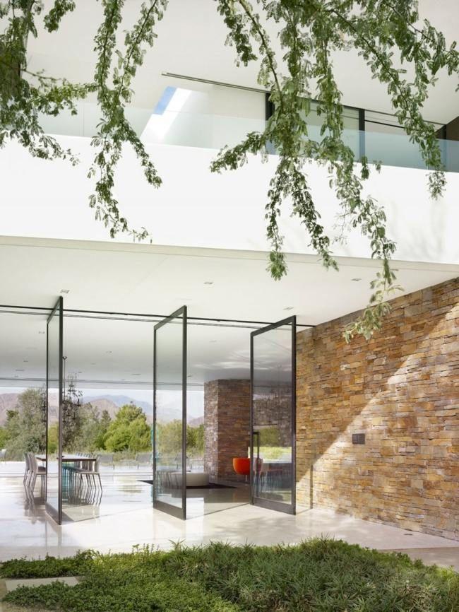 Fassade glas haus  Luxus Haus USA moderne Fassade Beton Glas | Luxus Häuser ...