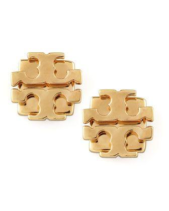 Tory Burch Small T Logo Stud Earrings Golden