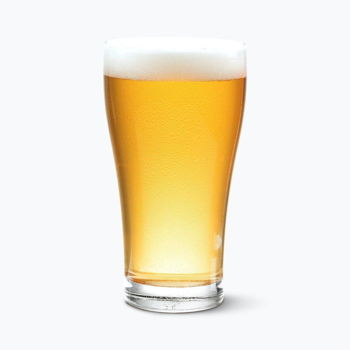 Download Premium Illustration Of Pilsner Beer Pint Product Mockup On White Pilsner Beer Pilsner Beer
