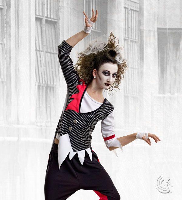 Curtain Call Costumes Zombie Mob Metallic Striped Nylon Spandex Hip