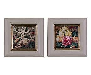 Set de 2 cuadros Flores