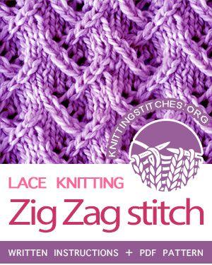 Lace Knitting. #howtoknit the Zig Zag Lace Stitch. FREE ...