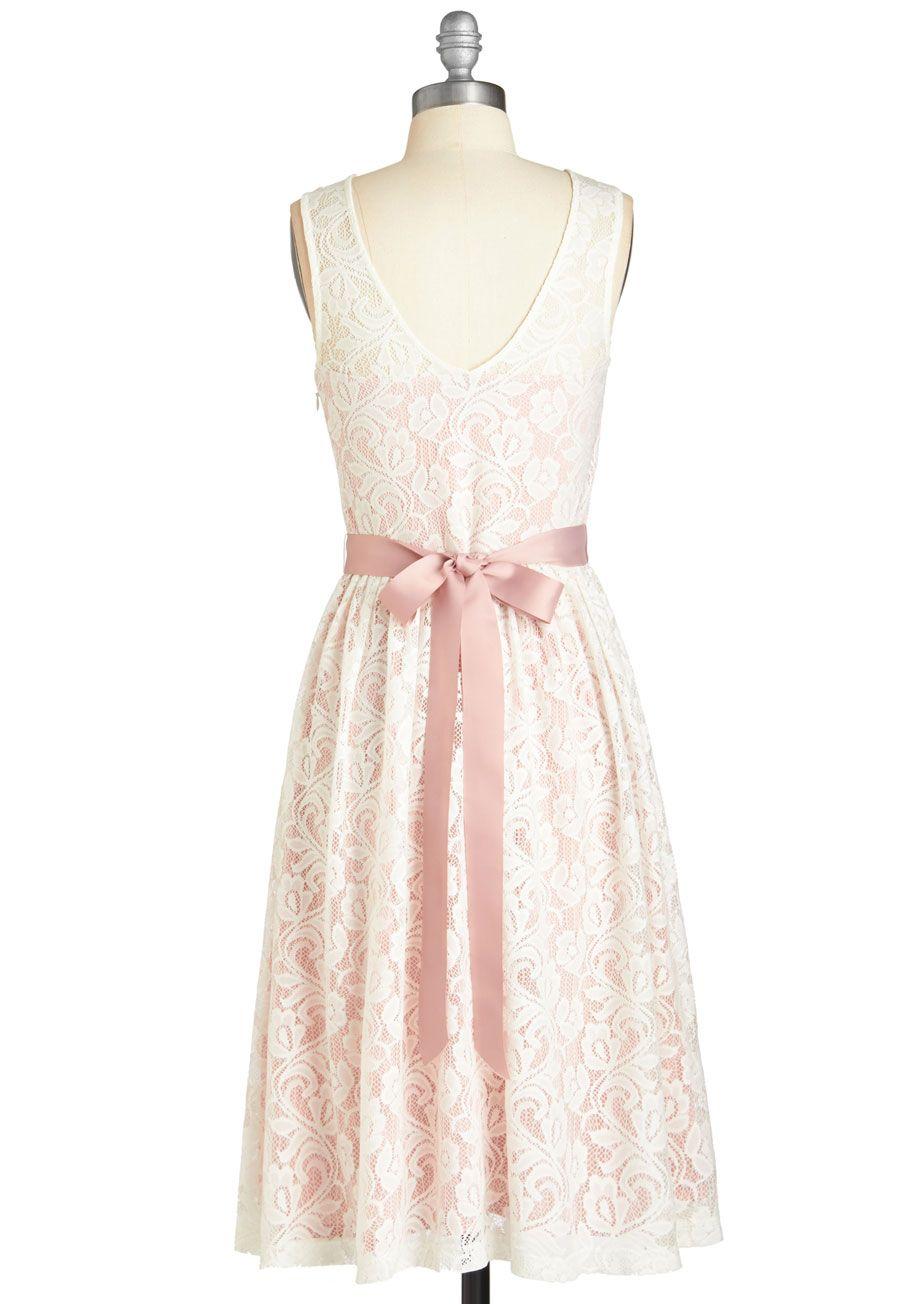 Lacy in Love Dress in Blush | Mod Retro Vintage Dresses | ModCloth.com
