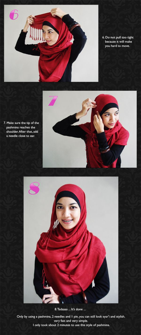 Hijabers Tutorial Sakinah Cara Pakai Jilbab Ala Zaskia Adya