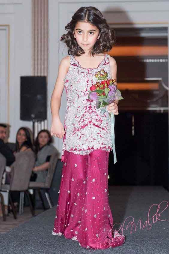 9e013b3d White and purple baby girls sharara dress designs 2018 for wedding party