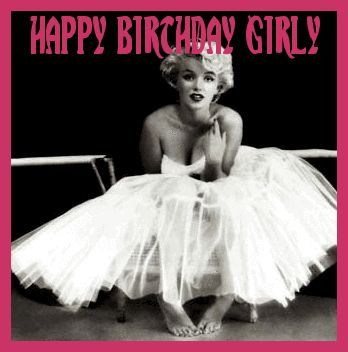 Happy Birthday Girl Marilyn Monroe Birthday Wishes Pinterest