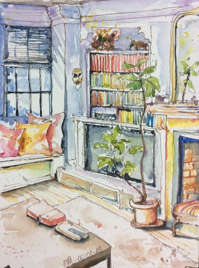 In The Living Room Art Inspiration Painting Art
