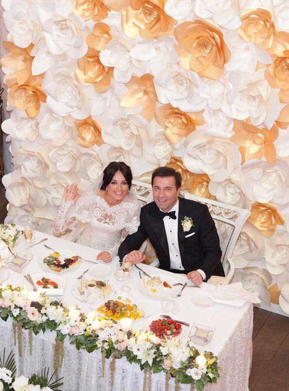 Paper Flower Wall - Paper Flower Backdrop - Wedding Wall - Wedding ...