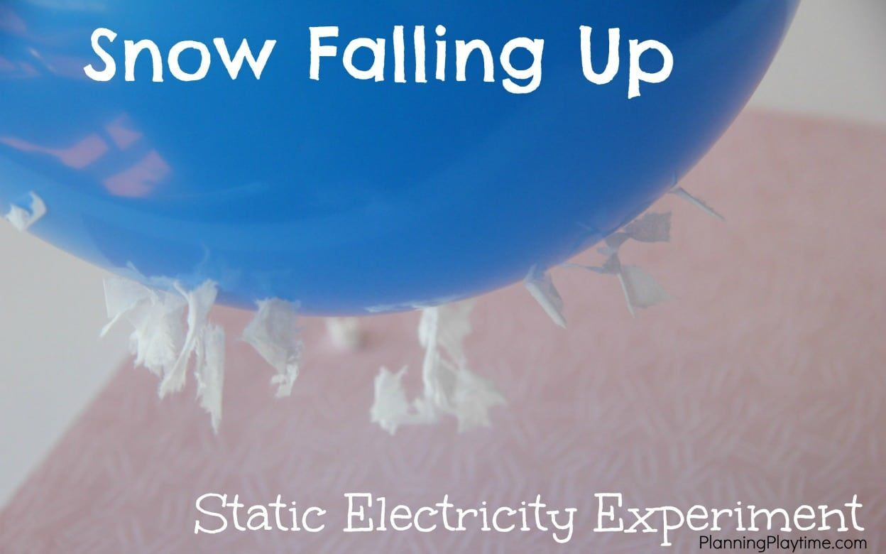 Static Electricity Science Experiment For Kids Falling Up Electrical Circuit Project How Fun Is This Make Bits Of Toilet Paper