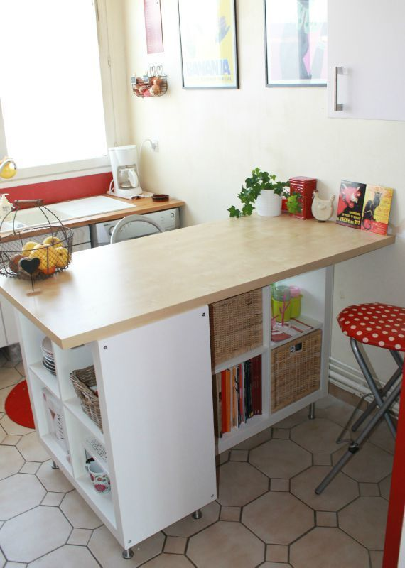 Ikea cucine trasformare uno scaffale ikea in un isola per for Scaffale da scrivania