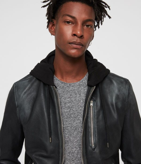 Abbot Leather Bomber Jacket | Leather jacket men, Leather ...