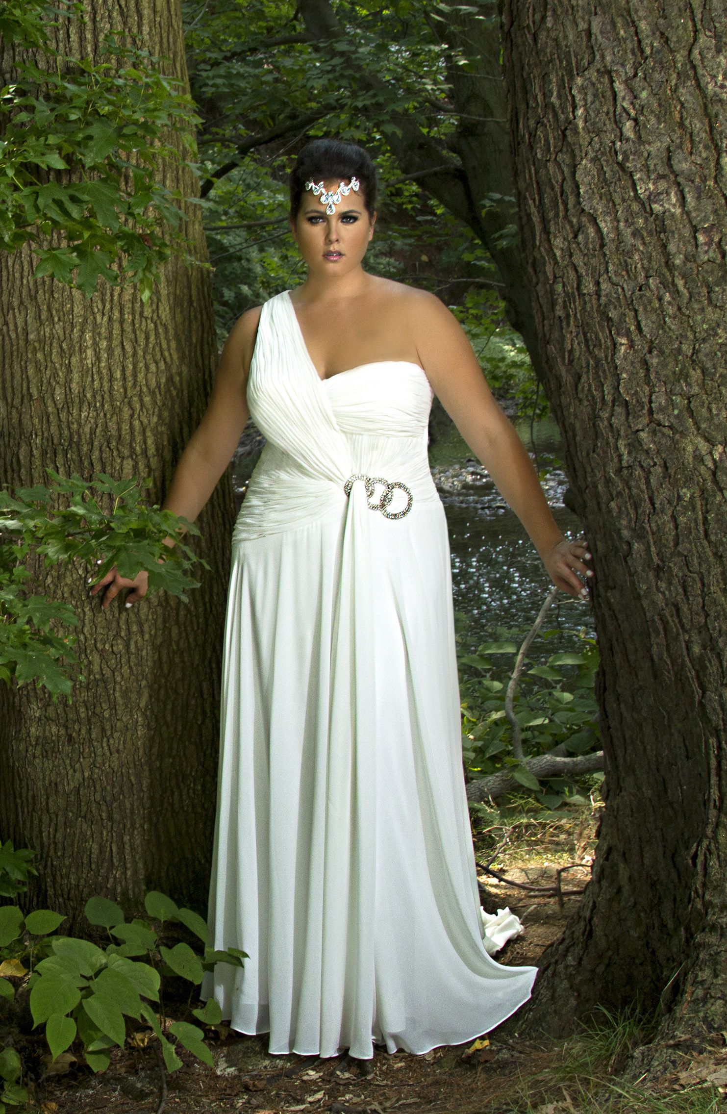 """Our """"Circle of Love"""" plussize Wedding Dress is"""