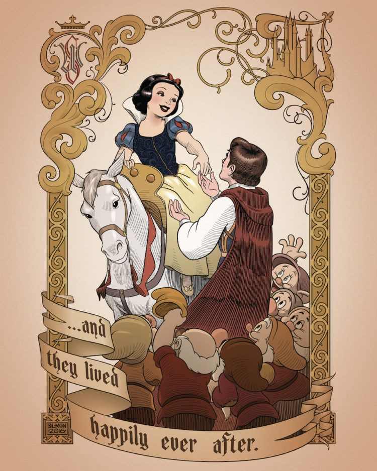 26 Incredible Pieces of Art That Celebrate the 80th Anniversary of Snow White and the Seven Dwarfs