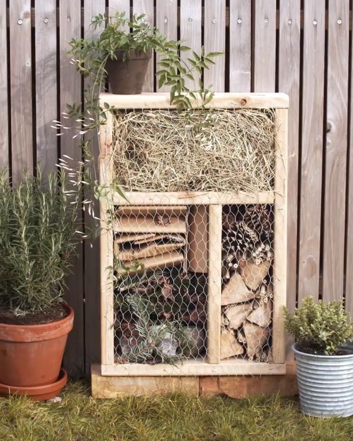 Construisez un hôtel à insectes pour le jardin ou