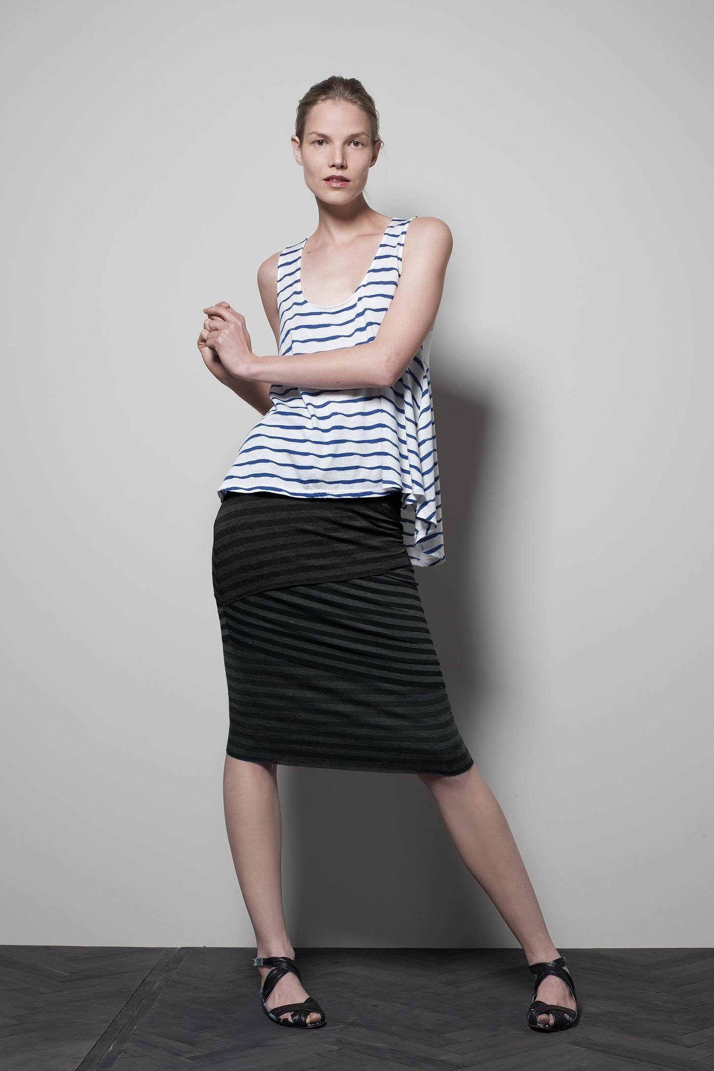 Loosened Stripes Tank- Behind The Dressing Room Door: Head To Toe In Anthro