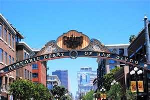 Gaslamp Quarter, downtown   San Diego
