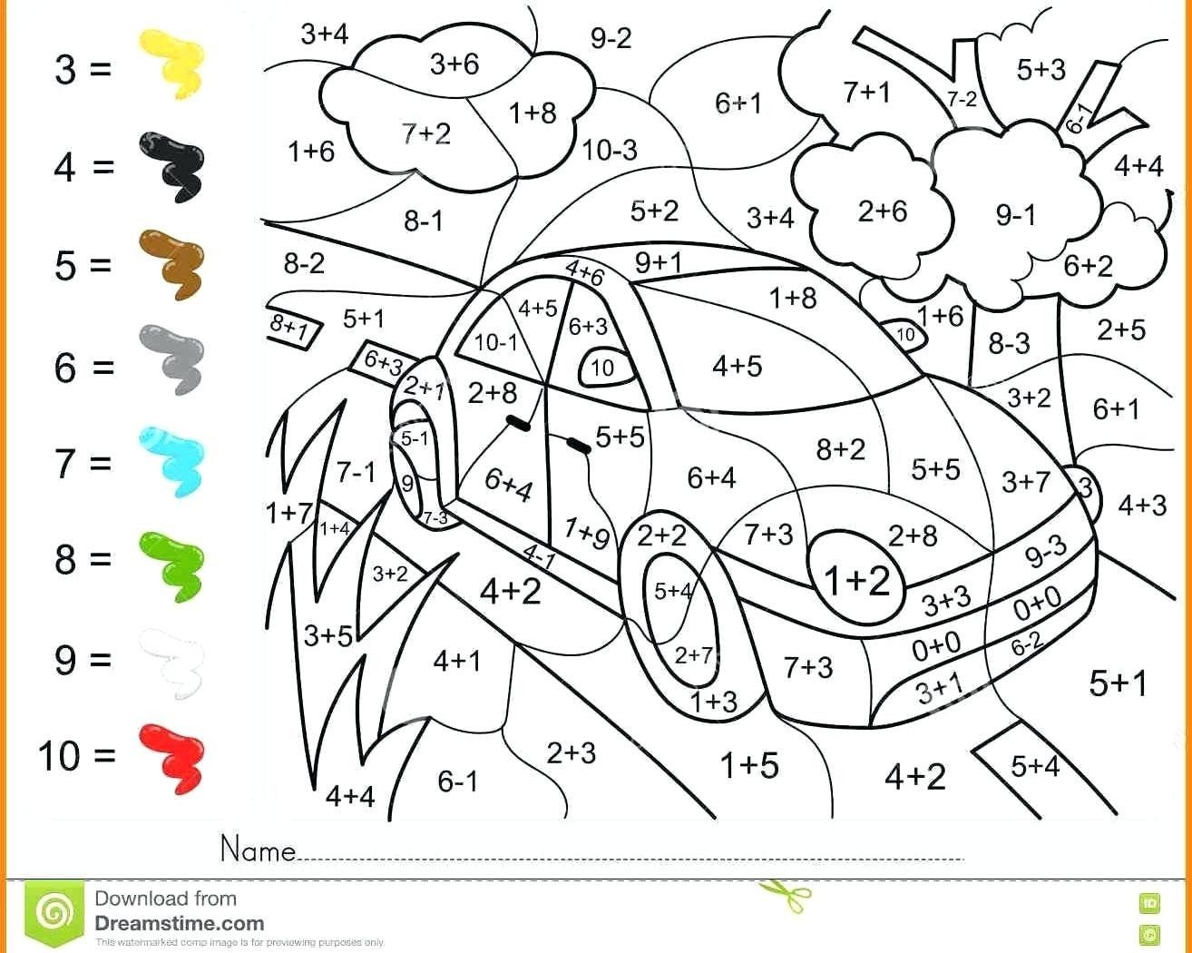 2nd Grade Coloring Pages Unique Printable Math Coloring Worksheets 2n Addition Coloring Worksheet Coloring Worksheets For Kindergarten Math Coloring Worksheets [ 1050 x 1314 Pixel ]