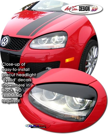 Headlight Eyelid Decal Kit 1 For Volkswagen Gti Volkswagen Gti