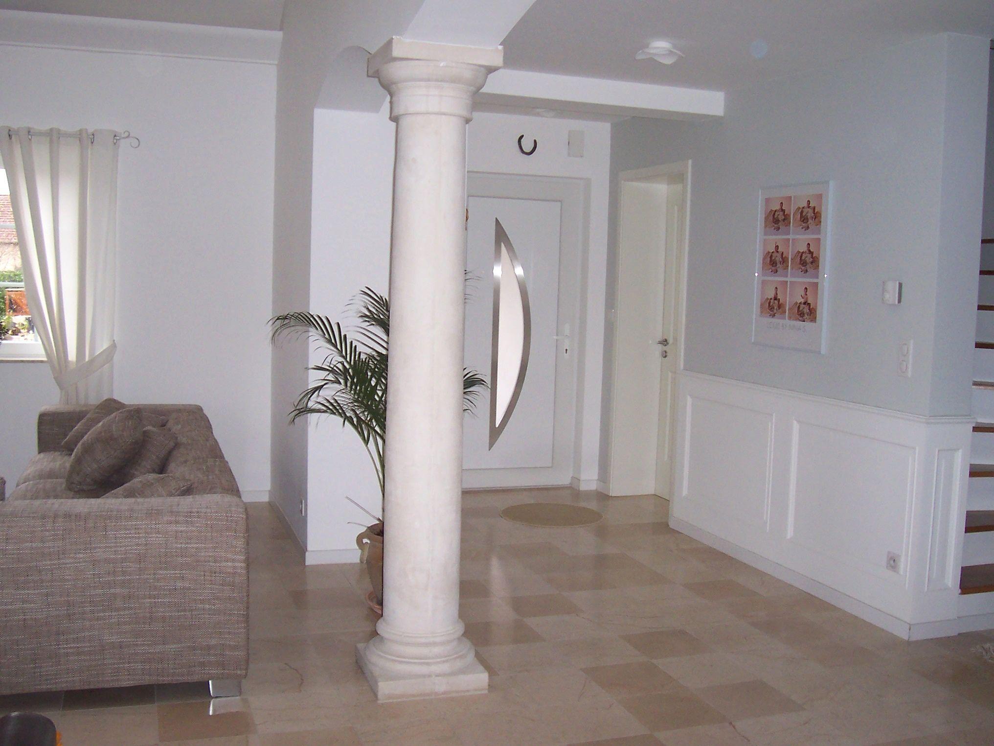 Colonne classique en pierre reconstitu e lisse pleine d corative non porteuse chapi - Interieur moderne inspirant piliers en beton ...