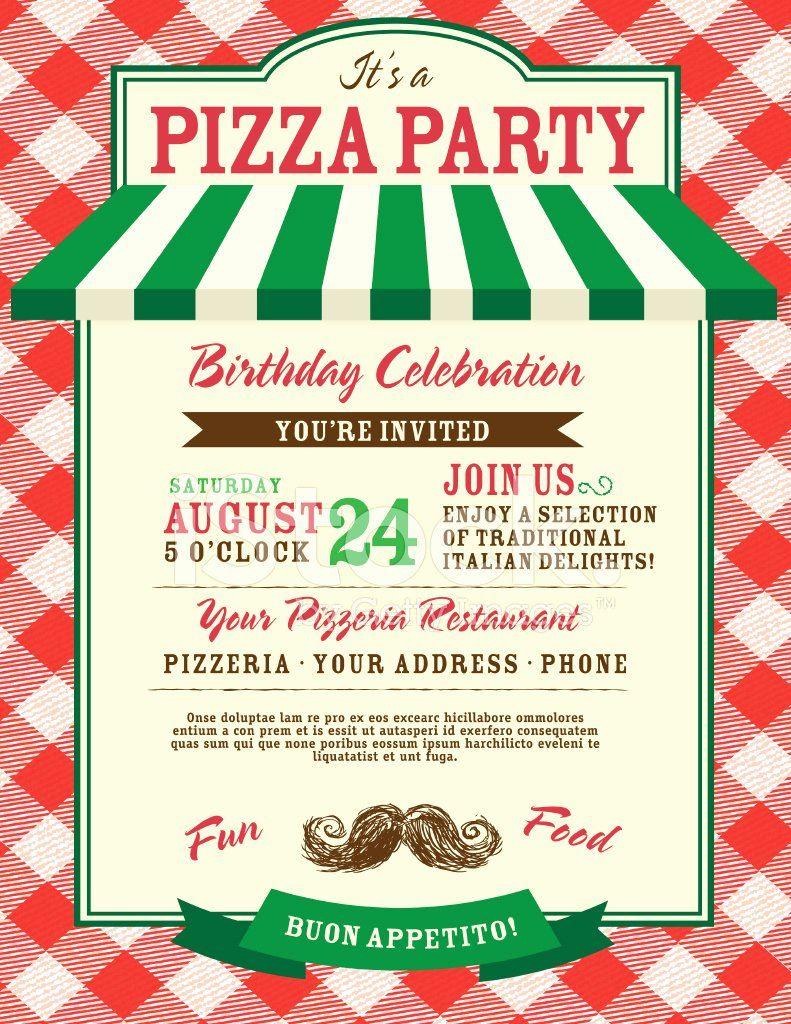 Pizza Party Invitations Template Best Of Pizza Und Geburtstag Party Einladung Entwurfsvorlage Pizza Party Invitations Party Invite Template Party Invite Design Pizza party invitation template free