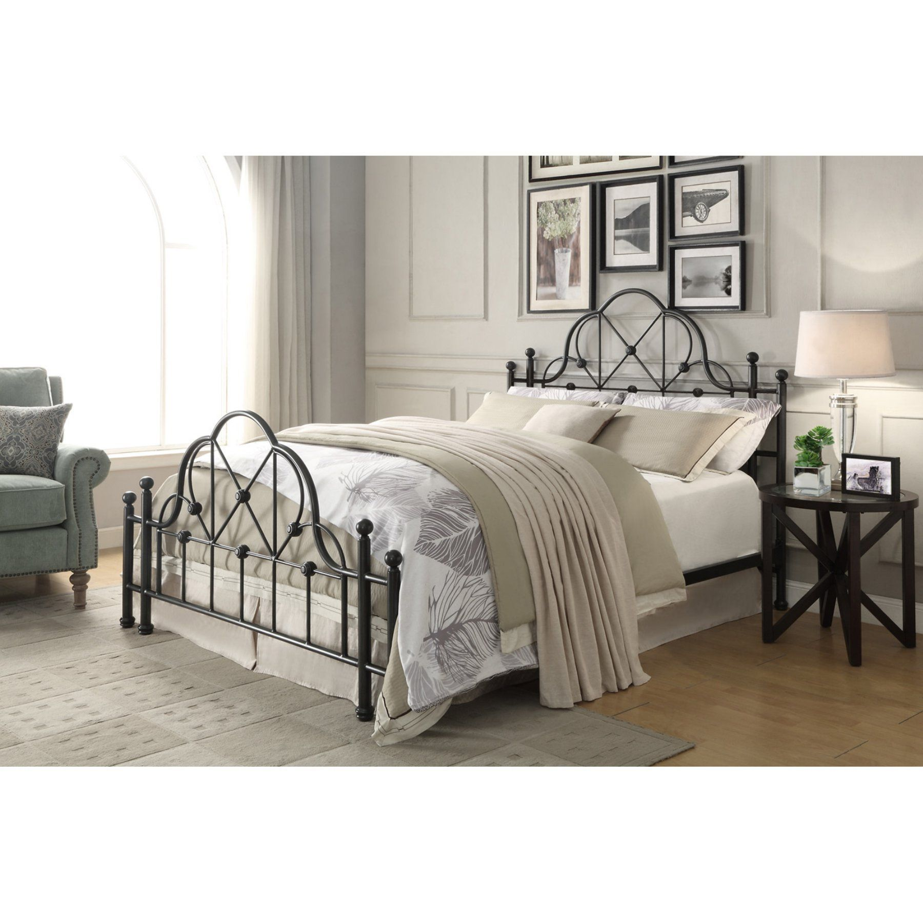 Best Craft And Main Emma Metal Bed Queen Ql Kdb10 Black 640 x 480