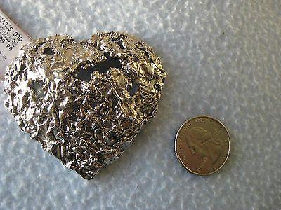 Yves Saint Laurent HEART pin,brooch SILVER TONE 295$ - http://elegant.designerjewelrygalleria.com/saint-laurent/yves-saint-laurent-heart-pinbrooch-silver-tone-295/