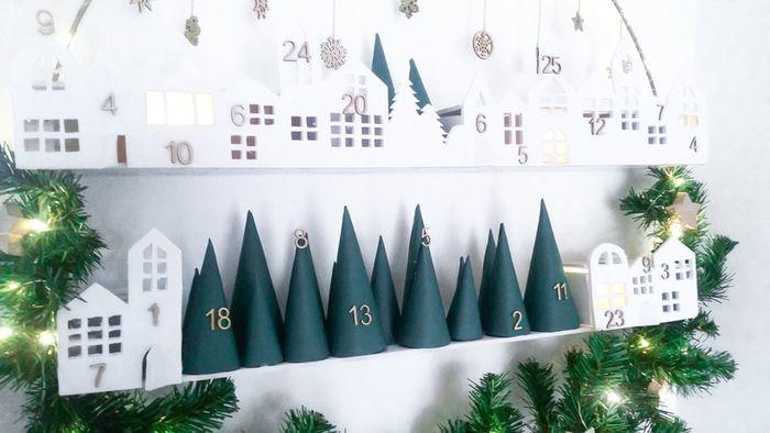 Calendrier de l'Avent façon couronne de Noël   Oui Are Makers