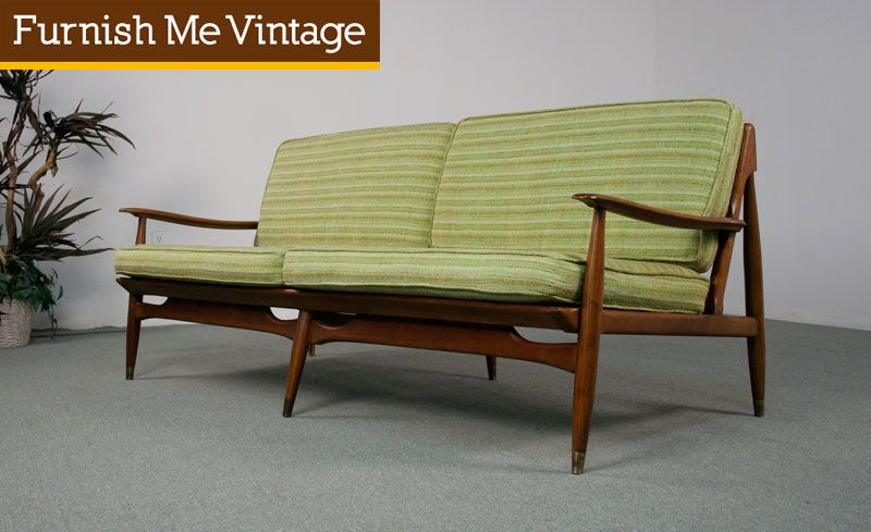 Mid Century Modern All Original Danish Style Sofa
